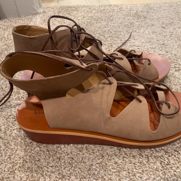 Lucky Brand Shoes - Lucky Brand Lace Up Sandals